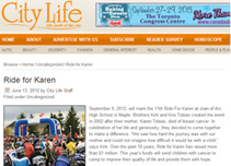 City Life Ride for Karen